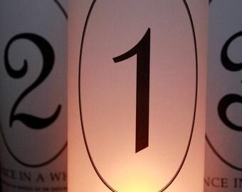 Table Numbers, Fairytale Wedding, Fairytale Table Numbers, Fairytale Luminaries, Fairytale wedding decor- Set of 25