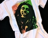 Bob Marley T-shirt - Classic Loose Fit XXL White, Red, Gold and Green of course.