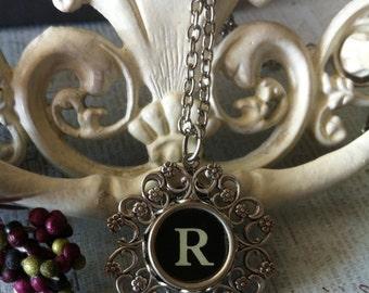 Vintage Typewriter Key Necklace