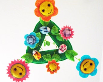 Baby Mobile - Flower Mobile - Baby Mobile for Cots, Cribs, and Bassinets - Baby Facing