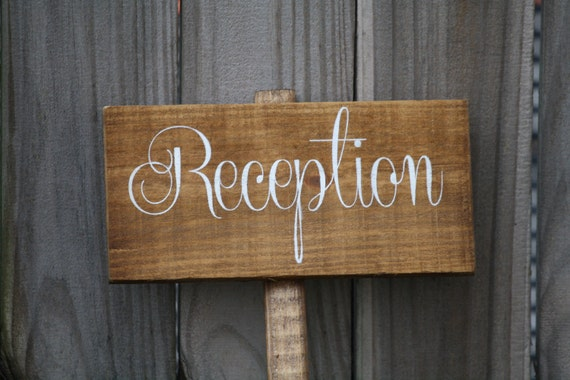 Personalized Wooden Wedding Signs Ceremony Signs Reception