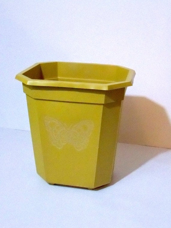 items similar to vintage trash can small plastic 1970s