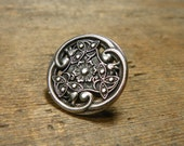 Celtic Flower Upcycled Button Metal Pin (V5)