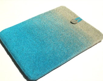 iPad Air sleeve, iPad Retina Case, iPad cover, padded tablet sleeve, ombre wool tablet case, Nexus 10 cover, Kindle Fire HDX sleeve