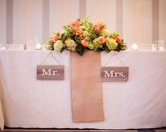 Mr. & Mrs. Rustic wedding signs  made from reclaimed wood