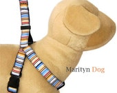 Martingale dog harness Prevent backing out small dog harness large dog harness blue dog harness nautical dog harness stripe dog harness