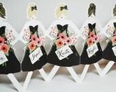 Paper Doll Bridesmaids