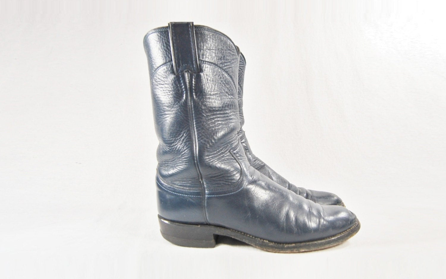 size 7 5 navy blue boots vintage justin boots