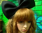 Dusty black oversized bow bunny/hair accessory/extra large big bow/dolly gothic barbie harajuku lolita costume cosplay