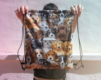 LAST ONE - Dogs drawstring backpack