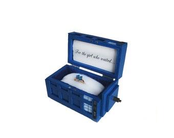 Tardis Wedding Ring Doctor Who U Anel De Casamento With Tardis