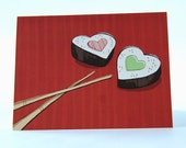 Sushi Lovers' Valentine Card