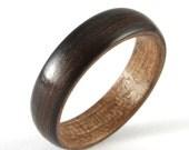 Ebony Wooden Wedding Ring For A Man