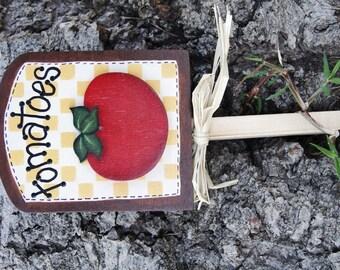 Garden Tomato Plant Sign - Wood Garden Sign