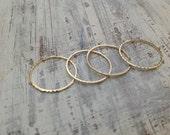 4 Gold rings, gold ring, Stacking rings, stacking gold rings, knuckle rings, thin ring, tiny ring, gold knuckle rings - RR1