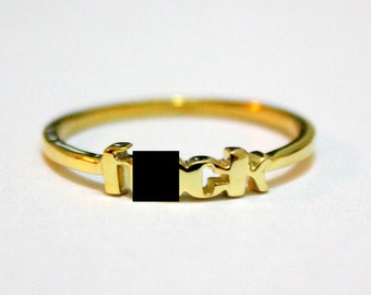 F%&k Ring 18K Gold Plated Sizes 5-9