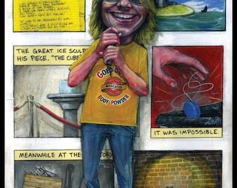 Mitch Hedberg Art Print - Mitch Hedberg Portrait - Comedian