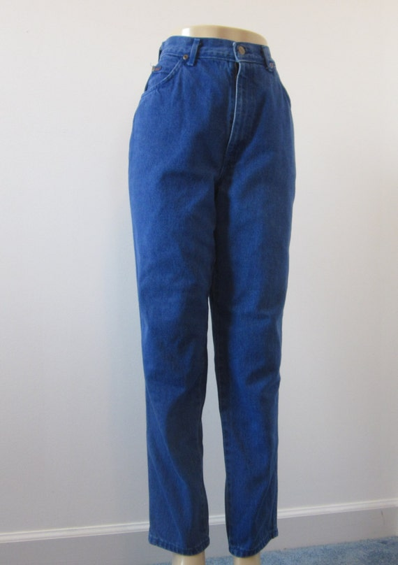 Vintage 80s Chic High Waisted Jeans Usa Indigo Blue Tapered