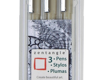 3 Piece Zentangle Pen Set - Starter Set