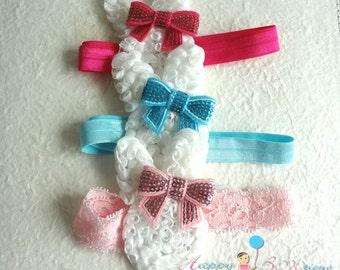 U pick Baby Easter Headband /Baby Shabby Bunny headband /  Baby 1st Easter Headband/Easter Bunny Headband,Baby Easter bow,Baby Easter outfit