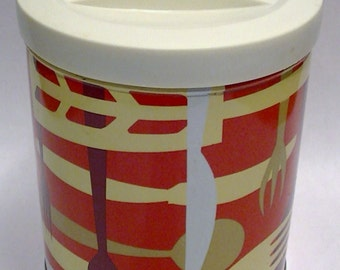 Vintage 70s Mid Century Tin Canisters Procter & Gamble Retro
