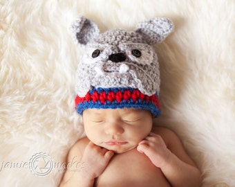 Bulldog Hat PATTERN - Crochet