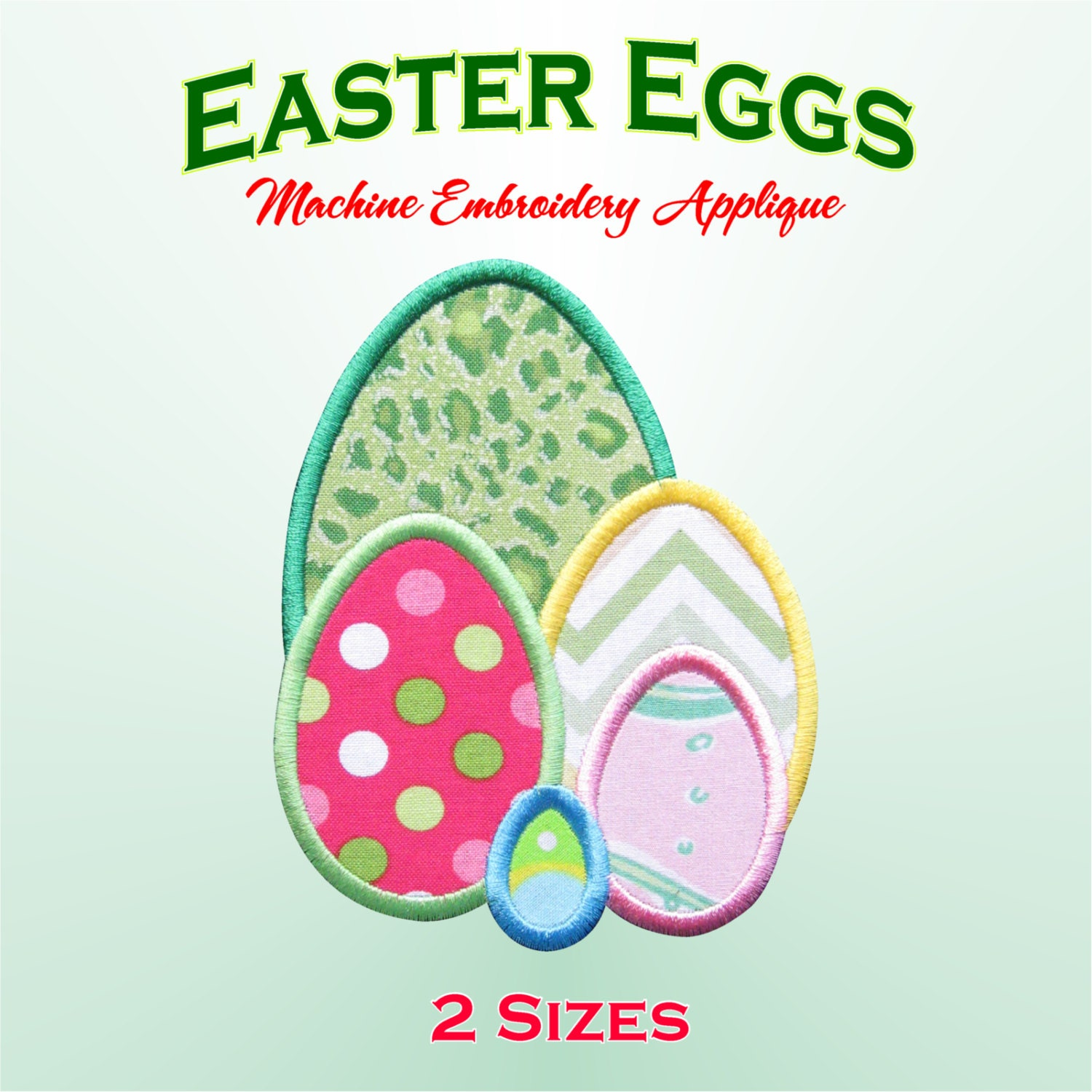 Easter eggs machine embroidery applique by ediesdesigns on