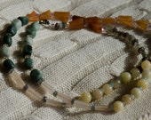 Natural necklace - repeating patterns of stones and gemstones