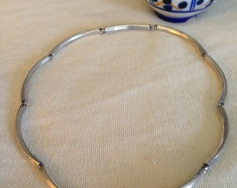 ON SALE: Vintage 1940s Sprawling Style, Taxco Los Castillo, Mexican sterling silver necklace