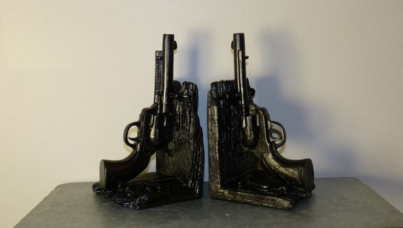 Attractive Fatheru0027s Gift, Gun Book Ends, 2 Bookends, Gun Bookends, Office Decor, Book  Collectors, Gun Collectors, Dorm Decor, Dad Gift