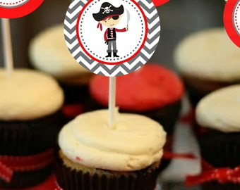 Pirate Party Printable Party Circles ( Cupcake Toppers )