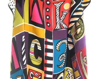 Vintage Bob Mackie Printed Silk Scarf
