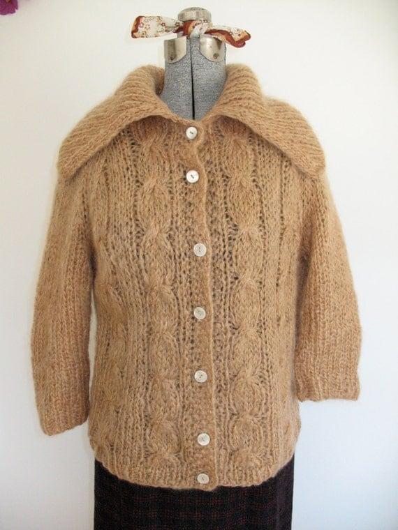 Sz M L 50 60s Mohair Sweater Italian Designer Famelia Frappe