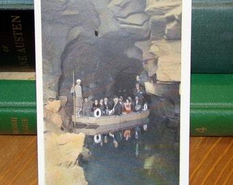 Vintage Postcard, Lagoon of Venus, Howe Caverns New York 1930s Paper Ephemera