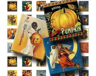 99 Cent Sale - Vintage Halloween - Digital Collage Sheet   - .75 x .83 Scrabble Size - INSTANT DOWNLOAD