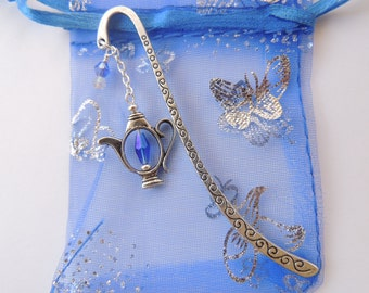 Teapot Bookmark, Crystal Bookmark, Metal Bookmark. A281