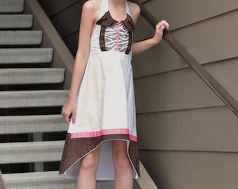 "Girls Garden Tuxedo Chocolate Pink ""Carly"" Halter Dress Sz:8"