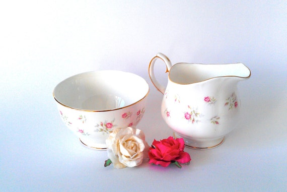Duchess Marie Rose Bud Cream Jug Sugar Bowl Set - Floral - Tea Set - Afternoon Tea