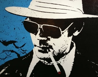 Hunter S Thompson Pop Art Painting