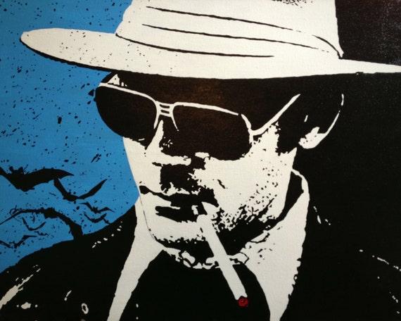 "Hunter S Thompson Custom Pop Art Painting 16""x20"" Canvas"