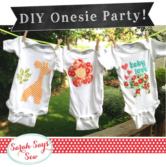 Baby One Piece Decorating Party DIY Baby Shower By