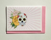 Birthday Card, Funny Card - Sugar Skull