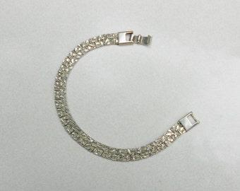 Vintage flat nugget bracelet New Jersey Shore Old School style Vintage 1970s
