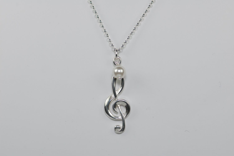 treble clef necklace treble clef pendant lover