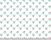 Fabric Little Red Riding Hood Riley Blake Little Leaves Aqua C3276 Half Yard
