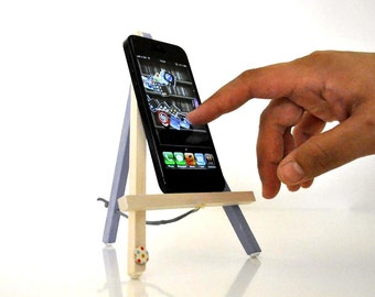 Galaxy S6 stand - Wooden Easel Geometry Pearl Purple