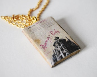 Rosemary's baby mini book necklace