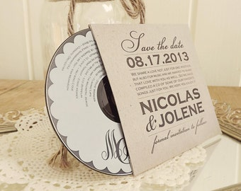 Custom Kraft CD Sleeves - Front & Back Printing - Save The Dates - Wedding Favors - Photography Portfolio Dvd / CD Covers