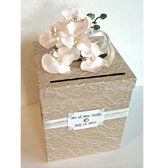 Vintage Wedding Gift Card Holder : ... Gold Single Tier. Wedding Card Holder. Tan Vintage Wedding Money Box