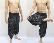 Ronnie Street Stuns Edition Samurai Pants green timber, Parkour Pants,Trouser, Yoga 100% Cotton(Unisex) One Size Fit All